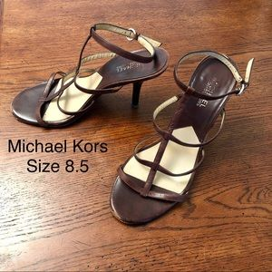 Michael by Michael Kors vintage brown strappy heel